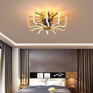 Ceiling Fans Nordic Household Fan, Bedroom Lamp Fan 110V 220V, Remote Control High Brightness LED