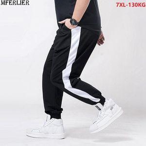 Men's Pants Autumn Men Casual Sweatpants Sports Simple Plus Size 6XL 7XL High Waist Loose Free Cotton Elasticity Stretch 130KG