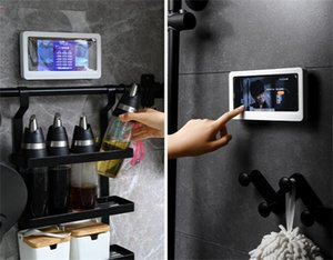 Wall Mounted Phone Case Punch-free Bathroom Waterproof Phone Box Convenient Safe Holder Kitchen Balcony Home Storage GGA5082