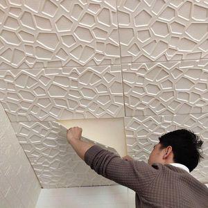 Mulit style 3D Wall Stickers Imitation Brick Bedroom Decor Waterproof Self-adhesive Wallpaper For Living Room Kitchen TV Backdrop DecorationLQZ5 Y7KI