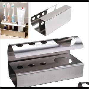 Holders 304 Stainless Steel Bathroom Toothbrush Toothpaste Holder Stand Storage Rack Kitchen Tool Gvlzc Gjm9N