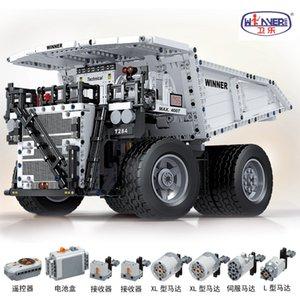 Technology Engineering Series Electric Remote Control Mining Truck Pull coal truck Building Blocks 1383pcs Bricks Education Toys 7120