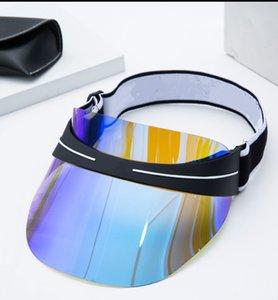Kutu Tasarımcısı Visor Yaz Üst Erkek Ve Kadın Güneş Şapka Son Tasarım Dazzle Renk Şeffaf PVC Güneş Şapka, Yüksek Kaliteli Güneş Şapka