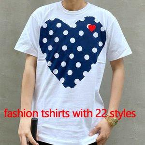 Kadınlar Fasahion Tees Yaz T-Shirt Bayan Tops Kalp Gözlü Baskı Erkekler T Shirt Kadın Erkek Kız Kazak Kısa Kollu
