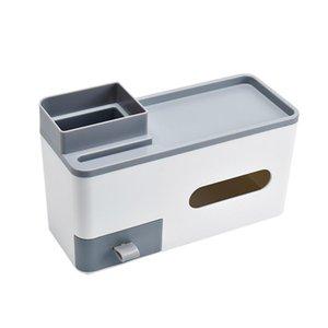 Storage Bottles & Jars Desktop Organizer With Drawer Makeup Box Collection Paper Towel Dispenser Shelf Garbage Bags