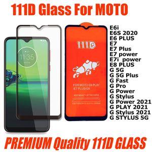 Premium Quality 111D Tempered Glass Phone Screen Protector For Motorola MOTO E6i E6S E6 E7 Plus Power e7i E8 G 5G Plus G pro stylus 2021