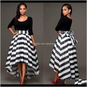 Womens Clothing Apparel Drop Delivery 2021 Long Formal Party Cocktail Striped Dresses Prom Gown Female Women Dress Ladies Sexy Amkix