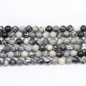 CSJA Wholesale 4mm Zebra Natural Stone Black Strip Stone Beads for Diy Bracelet Necklace Jewelry Making Vintage Women Men Loose 171 W2