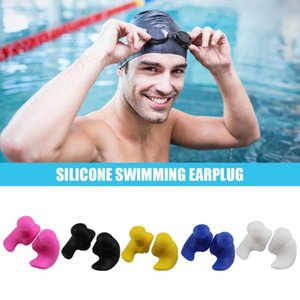Pair Waterproof Soft Earplugs Silicone Portable Ear Plugs Water Sports Swimming Accessories Nose Clip
