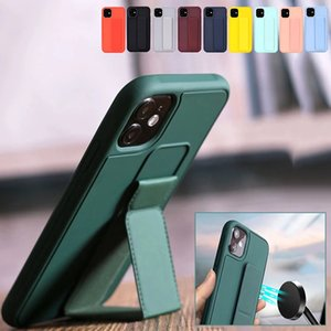 cases Candy color case is suitable for multiple types of Apple mobile phone magnetic bracket wrist strap soft silicone sleeve