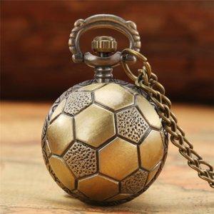 Steampunk Football Shape Design Zegarek kieszonkowy Wyświetlacz analogowy z 80 cm łańcucha Neckarce Number Number Dial