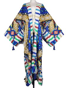 Ethnic Clothing Elegant 2021 Autumn Winter Floral Cotton Long Sleeve Tassel Duster Coat Middle East Muslim Ramadan Kaftan Cardigan