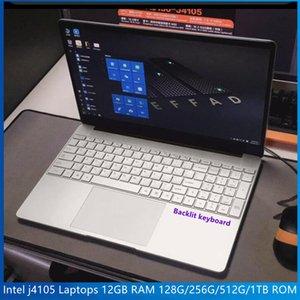 Newest 15.6 Inch Laptop Windows 10 Notebook 1920x1080P Intel j4105 Laptops 12GB RAM 128G 256G 512G 1TB ROM Dual Wifi PC Portable