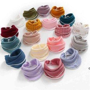Infants Cotton Gauze Bib Soft Newborn Water Towel 4 layers Scarf Bath Wash handkerchief Bandana Burp Cloth Feeding Saliva Towels HWA5236
