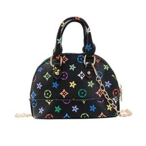 girls handbag Mini tote purse girl messenger bag summer printing kids handbags Princess shell bags portable decoration wallet G4OG7RZ