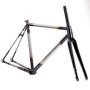 Велосипедные рамки Wainboard Цунами Croomolly Fixed Gear Frameset Рама углерода Fork 52см пользовательских хромированных CR-Mo сталь Fixie Track Super