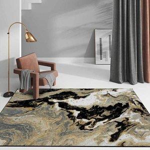 Carpets Abstract Quicksand Living Room Area Rugs Black Golden Marble Printed Home Decor Floor Mats Kids Bedroom Bedside Non-Slip Carpet