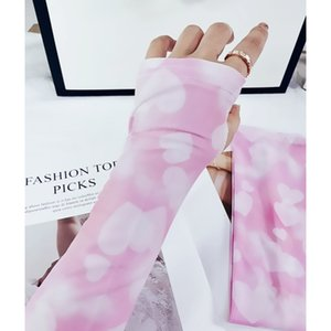 Sunscreen Ice Silk Female Sleeve, Digital Printing, Summer Thin, Breathable Cool Arm Cover, Cycling and Driving Long Gloves