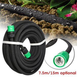 7.5 15m Porous Soaker Hose Micro Drip Irrigation 4 9mm Leaking Tube Anti-aging Permeable Pipe Garden Watering Reel Tabaco Equipments