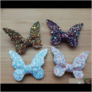 50Pcs Lot Flat Back Butterfly Leather Bows For Born Girls Hair Accessories Headband 4 Colors Pya1G Pwsyx