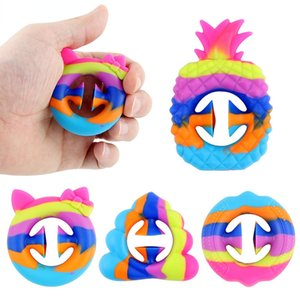 Us tock Newest Stress Reliever Toy Grab Snap Hand Toy Silicone Grip Ring Decompression Toys Exercise Arm Muscles Anti-Stress Toy For Kids