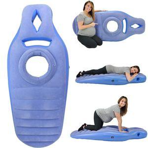 Yoga Mat Hamile Kadınlar için Rahat Akın PVC Şişme Yatak Delik Egzersiz Ev Spor Spor Salonu Fitness Pilates Pads Paspaslar