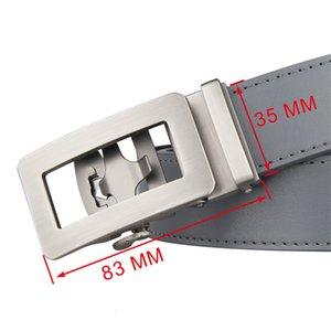Leather Designer Belts Luxury Man Top Quality Ratchet Strap Automatic Gray Black Mens Cowhide Golf Belt 120cm Length