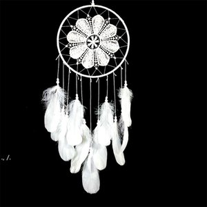 Goose Feather Lace Fashion Arts And Crafts Dream Catcher Home Furnishing Feathers Vehicle Pendant RRE10488