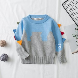 Pullover Kids Clothes Spring Autumn Baby Girls Boys Sweaters Knitting Pullovers Tops Children Cartoon Long Sleeve 1-7Yrs