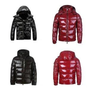 2021 고전적인 겨울 아래로 자켓 후드 자켓 남자 바람 방풍 따뜻한 검은 색 코트 여성용 겉옷 두꺼운 streetwear 옴 메이 패션 야외 크기 S-3XL