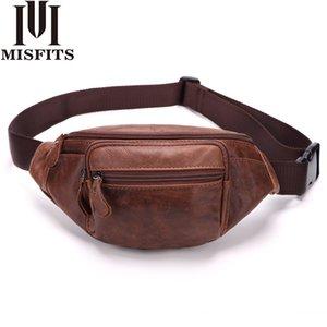 الرجال الخصر حزم جلد طبيعي سفر الخصر حقيبة الذكور فاني حزمة حزام حقيبة الهاتف الحقيبة حقائب جلدية صغيرة الحقيبة LJ200930