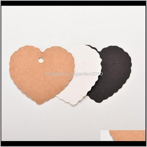 100 Pcs Lot Mini Kraft Paper Heart Greeting Cards Wedding Party Gift Card Label Blank Lage Tags1 Uz9Mx I01Xd