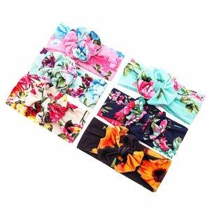 6 color Big bow belt Children printing Kids Baby Flower Headbands Bohemian Hair Accessories Head Wrap Girls Childrens