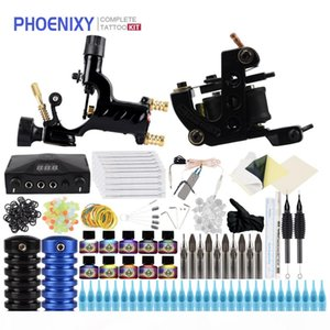 Complete Tattoo Kit 1 Rotary Machine 1 Tattoo Machines Gun Ink Set Power Supply Body Art Tools Set Permanent Makeup