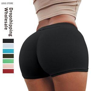 Women's Shorts LEGG Summer Vintage High Waist Women Sexy Biker Short Feminino Cotton Black Sweatpants