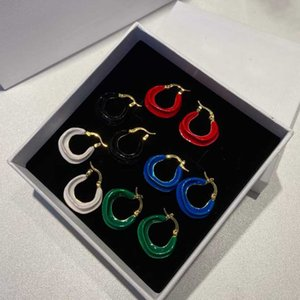 Top quality drop earring in many colors and 18k gold plated charm wedding jewelry gift for women Have stamp PS3174