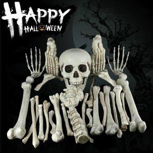 Creative 3D Simulation Props 28pcs Broken Bone Skull Haunted Halloween Decoration for Bar Party Haunted House Scene Props