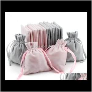 Pouches Display Drop Delivery 2021 Veet Jewelry Gift Bags With Cord Dstring Dust Proof Jewellery Cosmetic Storage Crafts Packaging Pouches Fo