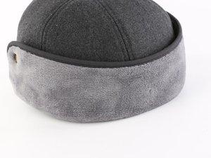 2020 Shade Connectyle Nouveaux Chapeaux d'hiver à la mode avec Bronge Écoutôt Haupeau Visière Hat Faux Faux Fourrir Baseball Daily Cap pour Hommes