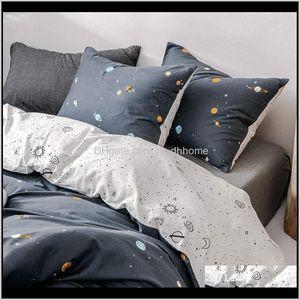 100 Cotton Modern Sets Duvet Bed Sheet Pillowcase Bedspread Comforter Cover Bedding Set Geometric Patterns Dcduk Htvb2