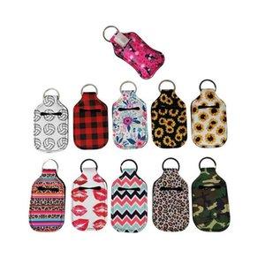 Neoprene Hand Sanitizer Bottle Keychain Bags 30ml Bottles Chapstick Holder With Baseball Softball Keychains Party Favor Gift