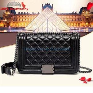2021 Classic single Shoulder handbags crossbody bag Wallet Women Luxurys Designers Leather purse gold and silver Chain clutch envelope wholesale