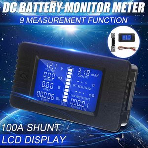 LCD Display DC 100A Battery Voltage Monitor Meter 0-200V Volt Amp For Cars RV Solar System electricity Voltage Meter Monitor 210430