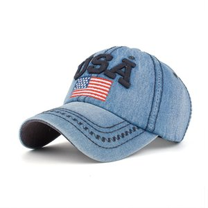 Creative Embroidered USA Flag Snapback Adjustable 6 Panel Baseball Cap for Men Women Outdoor Sunhat Peaked Cap Gorras for Unisex