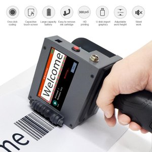 Large Font Portable Hand Jet Handheld Thermal Inkjet Printer For Logo   Expiry Date Serial Number Label  Barcode Qr Code Printers