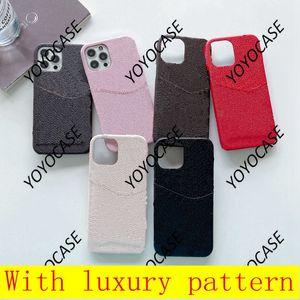 L Moda iPhone Kılıfları Için 12 Pro Max 11 11pro 11promax XR XS X XSMAX 7 8 Artı PU Deri Kabuk Kart Ile Samsung S10 S20PLUS S20U Not 10 10 P 20 Ultra Koruyucu Kapak 037