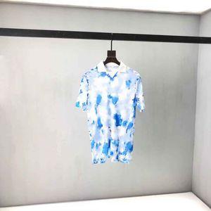 2021SS 봄과 여름 새로운 고급 면화 인쇄 반팔 라운드 넥 패널 티셔츠 크기 : M-L-XL-XXL-XXXL 색상 : 흑백 BV6D