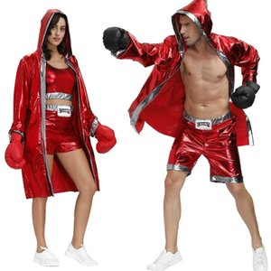 Boxer Boxing Cosplay Dress Up Halloween Apparel King Couple Stage Suit Festival Adult COS Clothing Christmas Party Gift