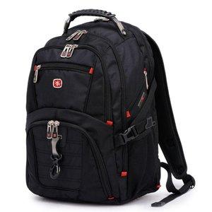 Çantalar İsviçre erkek sırt çantası 15.6 inç bilgisayar dizüstü okul seyahat unisex büyük kapasiteli bagpack su geçirmez iş mochila