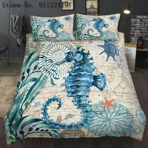 Bedding Sets Hippocampus Duvet Cover Comforter Set 3D Printing Luxury 3pcs Quilt Single Double Queen King Size Home Textile